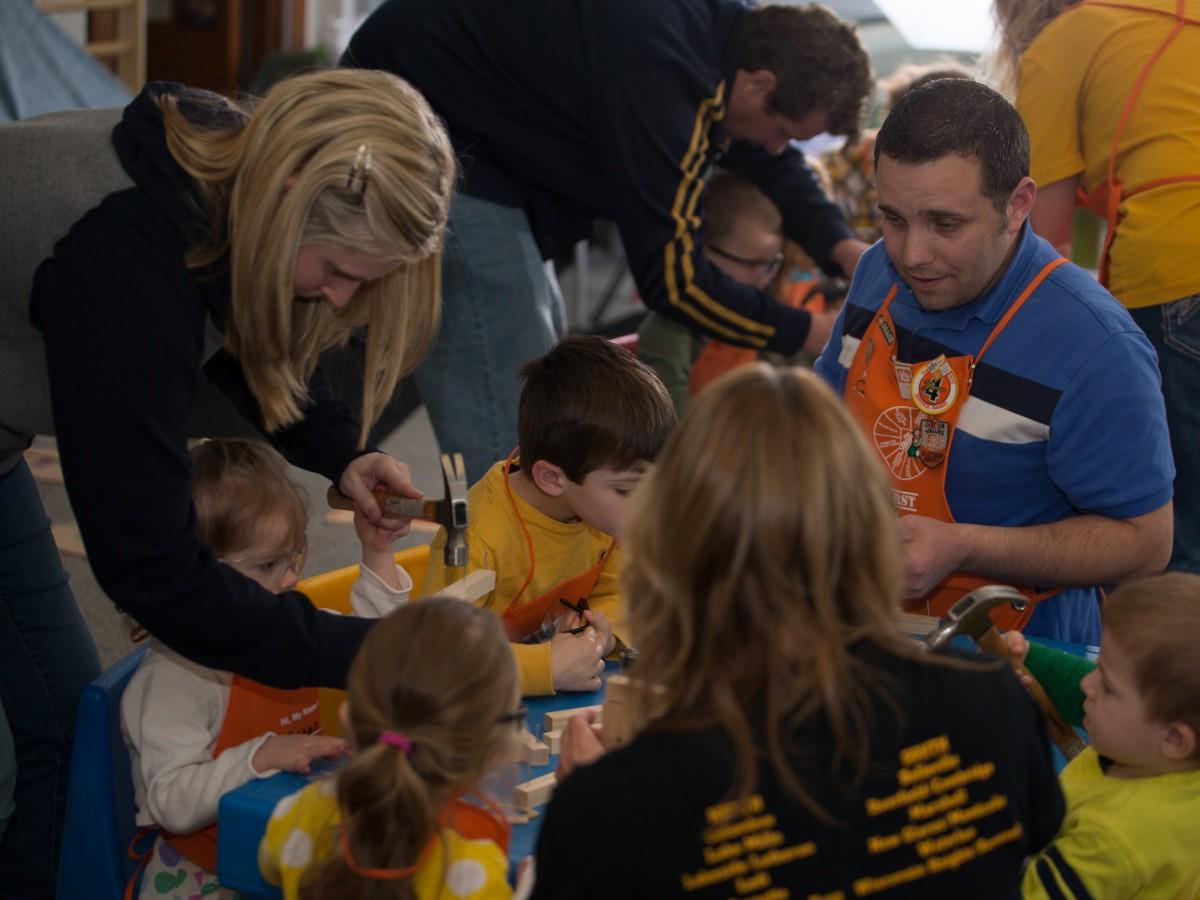 Anna Helping Kids Building Wisconsin