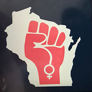 CoolGirl Violet Kilmurray Wisconsin Women's March Logo