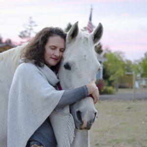 Amber Varner of Forward Stride works with a horse